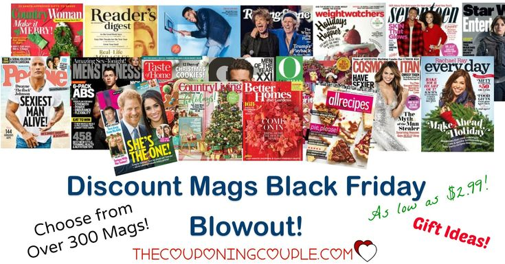 Looking for an easy gift? Check out the Discount Mags Black Friday Blowout! Over 30 mags! Starting as low as $2.99!   Click the link below to get all of the details ► http://www.thecouponingcouple.com/discount-mags-black-friday-blowout/ #Coupons #Couponing #CouponCommunity  Visit us at http://www.thecouponingcouple.com for more great posts!