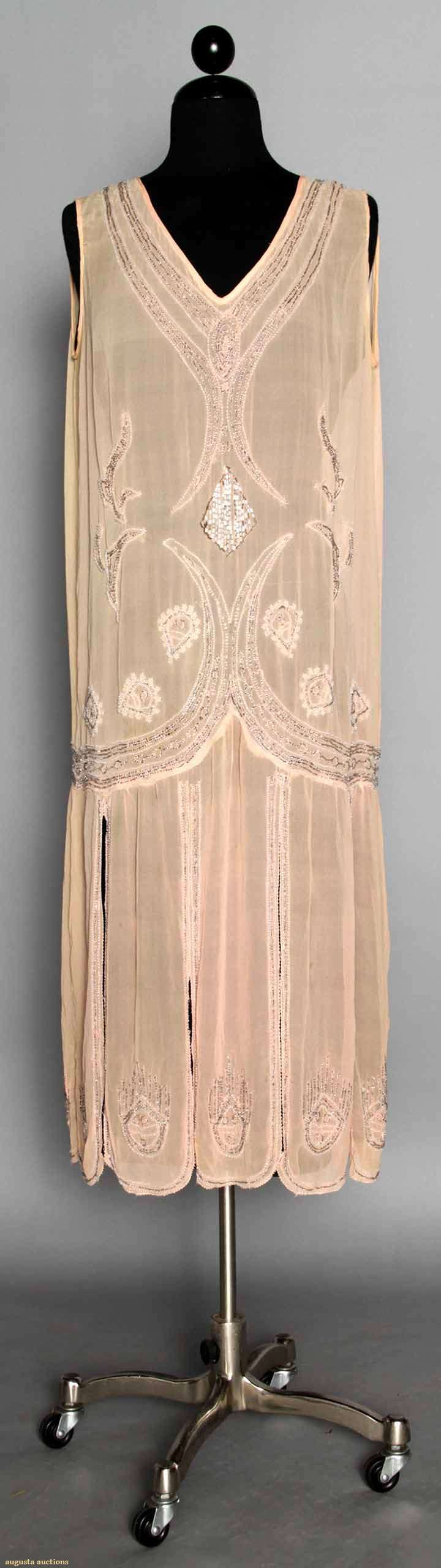 Pink Beaded Flapper Dress, Augusta Auctions, MAY 13th & 14th, 2014, Lot 156