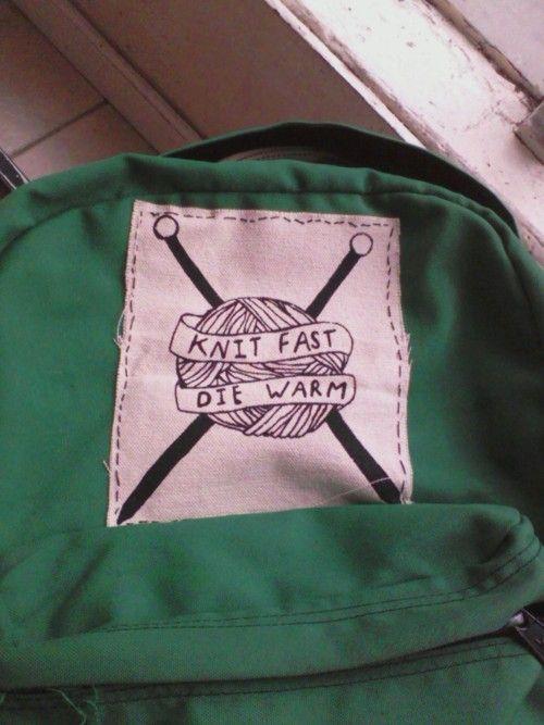 knit fast, die warm