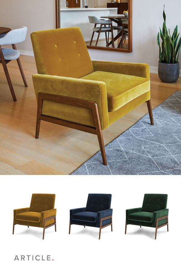 Nord Yarrow Gold Chair Lounge Chairs Living Room Small Lounge