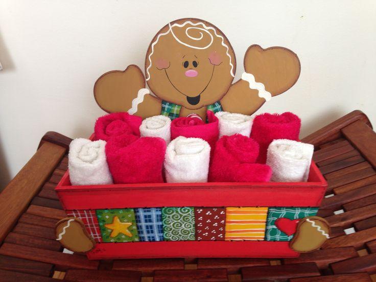 Charola para toallas (o lo que quieras) galleta de jengibre Navidad