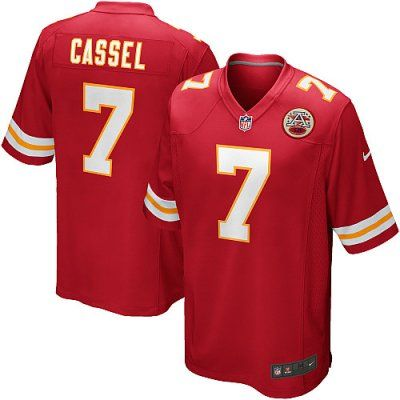 Chiefs 7 Matt Cassel Nike Game Jersey Home Red Team Color