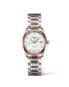 MASTER COLLECTION LADY 29 MM ACERO/ORO ROSA Ref: L2.257.5.89.7