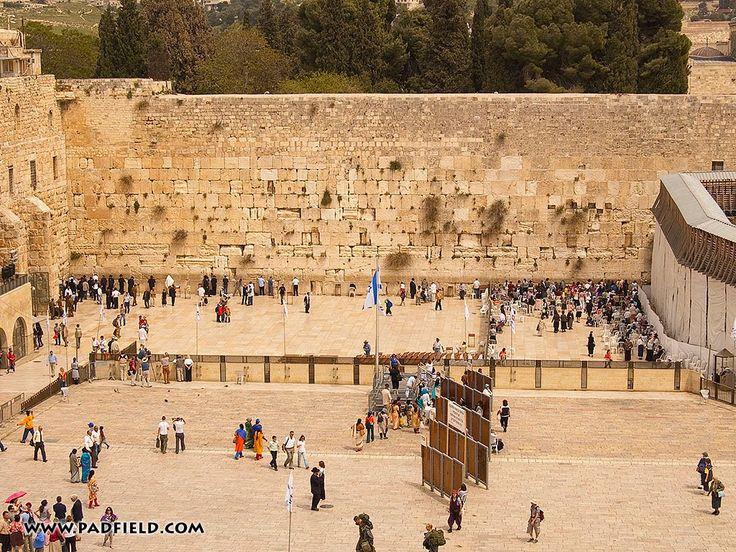 Western Wall - Jerusalem, IL - c.19 - Herodian.