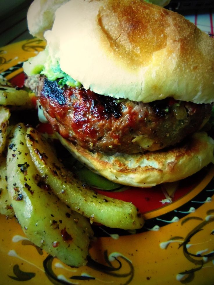 Chile Verde & Cheese Stuffed Grilled Burgers - Hispanic Kitchen