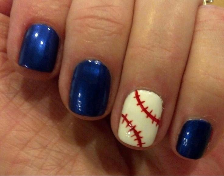 baseball nail design