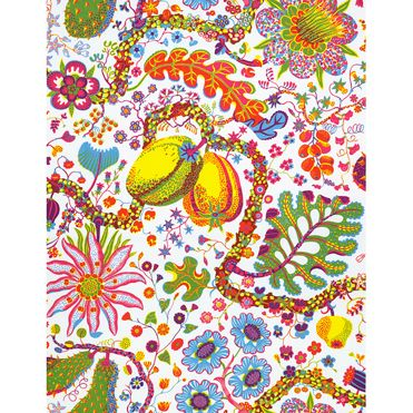 """I'm thinking that a wee bit of Josef Frank's """"Brazil"""" for our bedroom shades would be quite fab."""