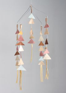 The Allison Show Leather Triangle Mobile in Fiona