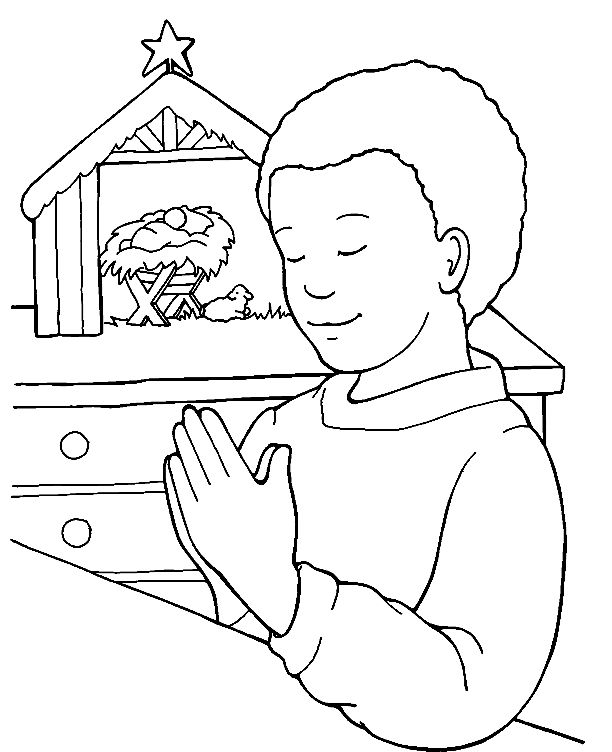 Coloring Prayer and Thank you
