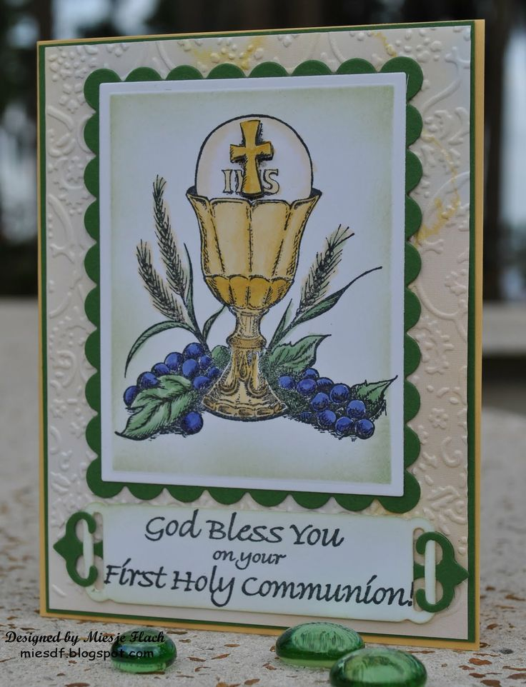 our daily breadfirst communion stamps | To see the Stampin Sisters in Christ and Craft's Meow post please ...