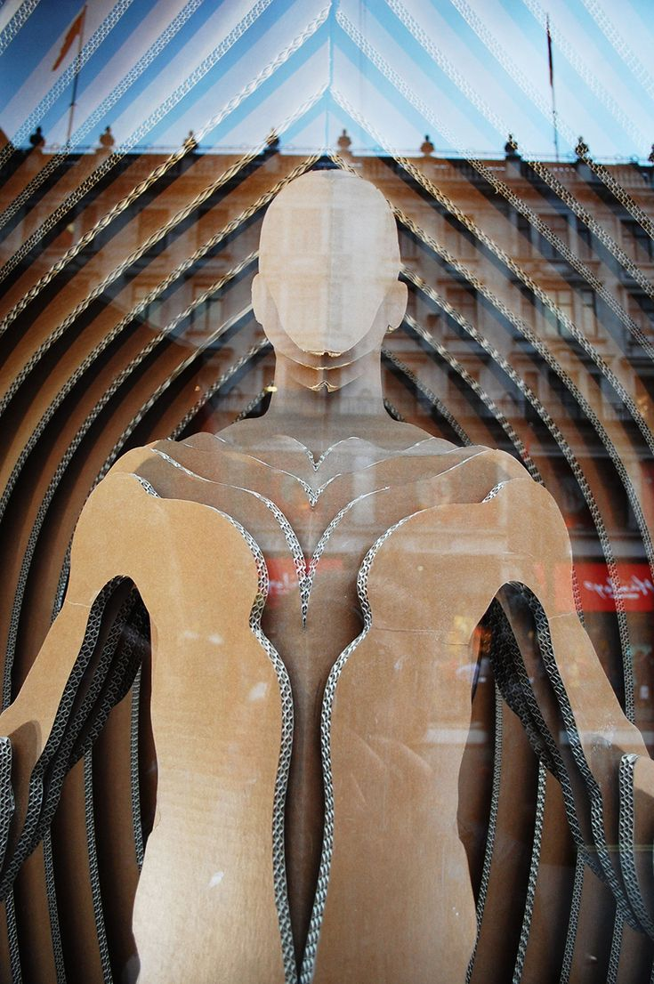 RIBA Regent Street London window projects: GANT with Sybarite Architects,close -up, pinned by Ton van der Veer