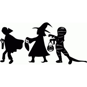 Halloween Trick Or Treat Silhouette.Silhouette Design Store Trick Or Treater Silhouettes 10