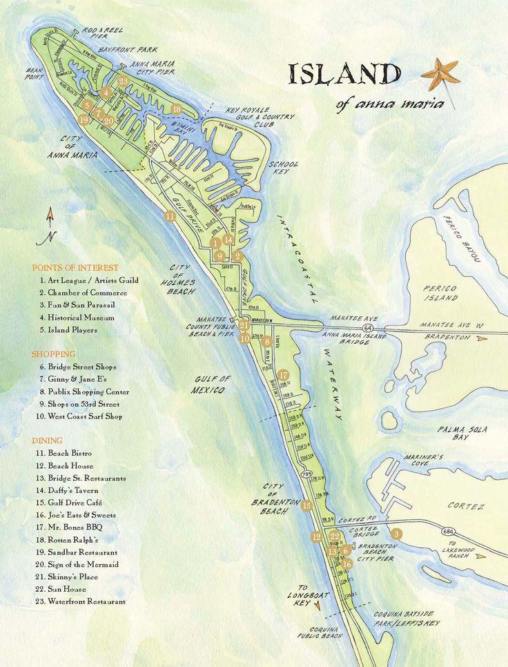 Ana Maria Island Tourist Map - Ana Maria Island • mappery
