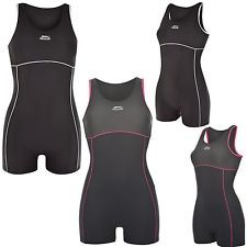 SLAZENGER Badeanzug mit Bein Damen Schwimmanzug Schwimmer XS- 4XL Boyleg
