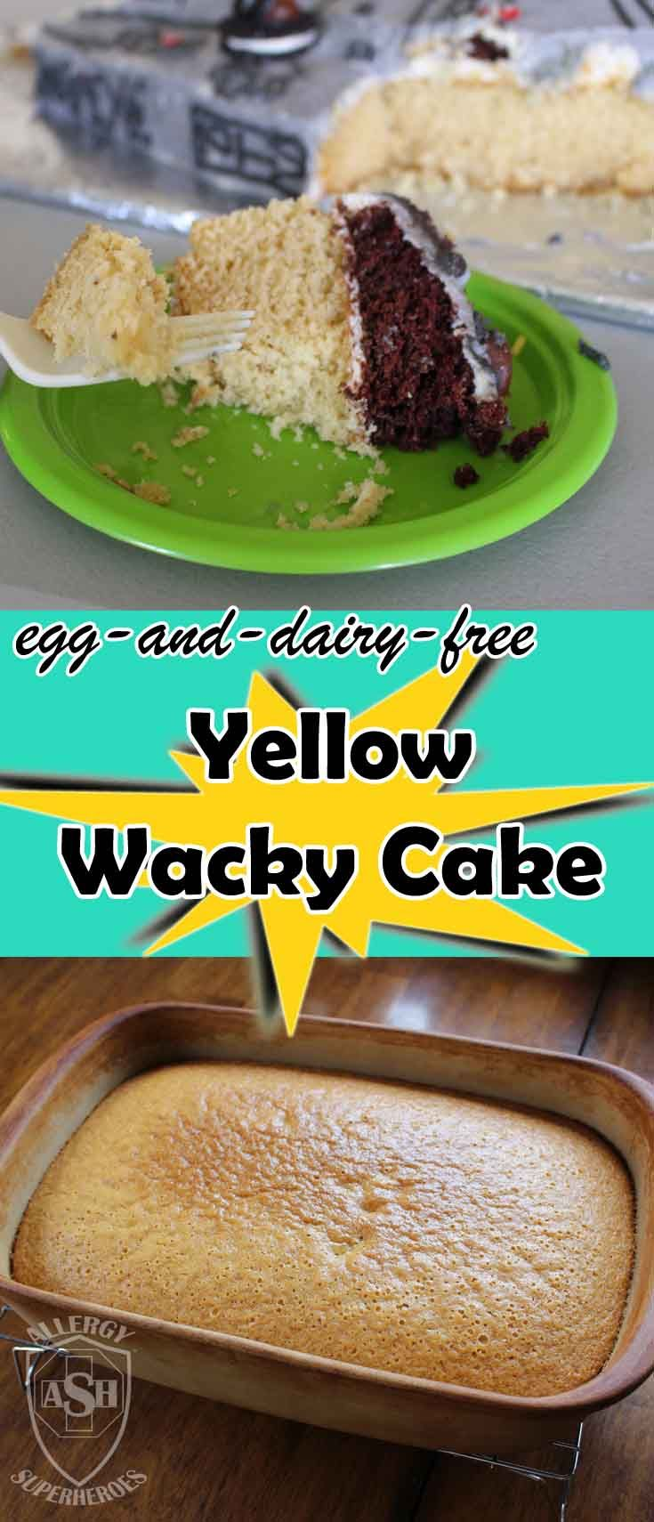 Yellow Wacky Cake - Delicious! - egg free, dairy free, vegan, free of most major allergens