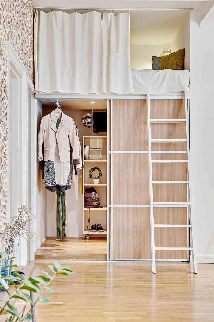 Smart lösning med sovloft. Erik Dahlbergsgatan. Bjurfors.se