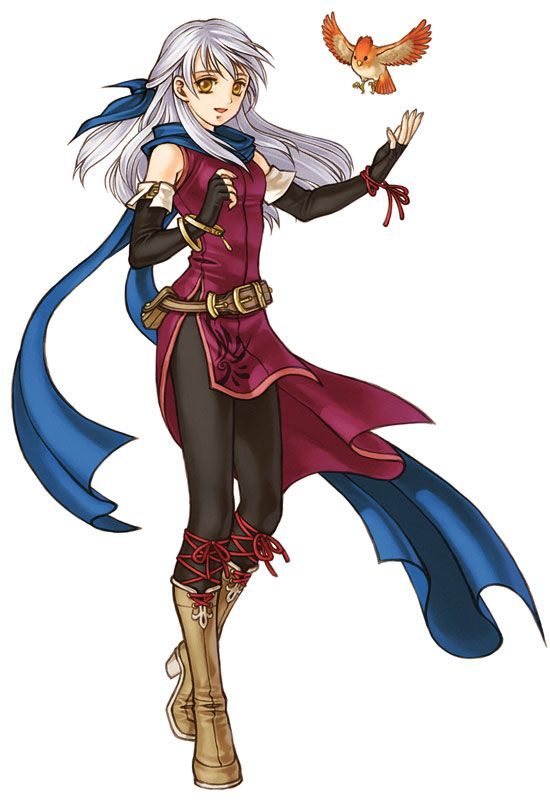 Micaiah - Fire Emblem: Radiant Dawn; a wielder of Light Magic & the de facto leader of the Dawn Brigade. She has the unique skill Sacrifice, which allows her to give up some of her HP to heal a selected unit. Micaiah is the first main character to fight with magic. very caring individual, but tends to be somewhat bitter at times. is particularly resentful towards Ike, whom she blames for the state of affairs in Daein.