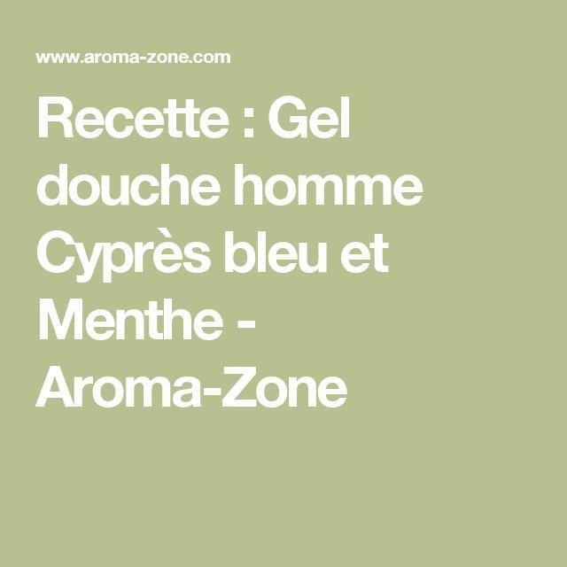 Recette : Gel douche homme Cyprès bleu et Menthe  - Aroma-Zone