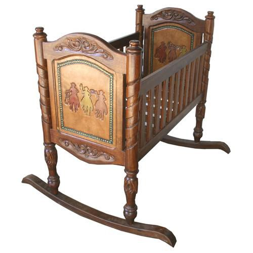 Hand Painted Rustic Cradle - rustic and elegance combined into this beautiful cradle