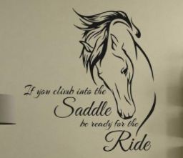 Only $18.59! Shop24seven365 for this inspirational horse riding quote wall sticker. Easily removable from surfaces. Large size. Great for horse lovers. Purchase from www.shop24seven365.com.au