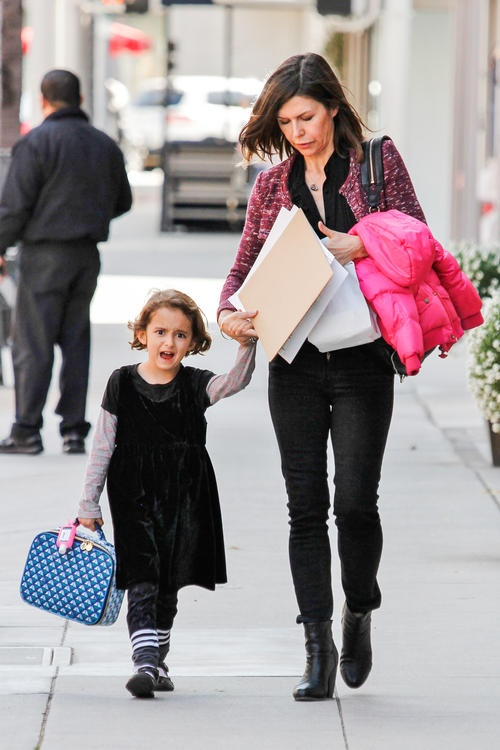 Finola Hughes and 5 year old Daughter Sadie don't be surprise if Michelle Stafford is the godmother