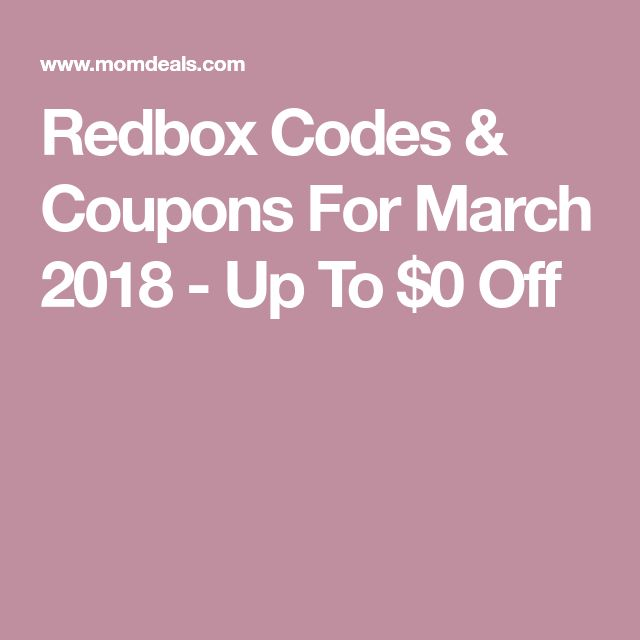 Redbox Codes & Coupons For March 2018 - Up To $0 Off