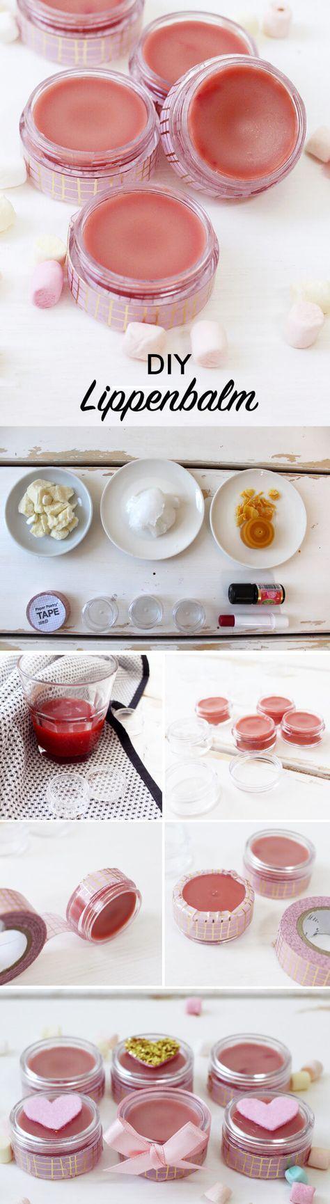 DIY Lippenbalsam selber machen: Tolles Geschenk für den Valentinstag!