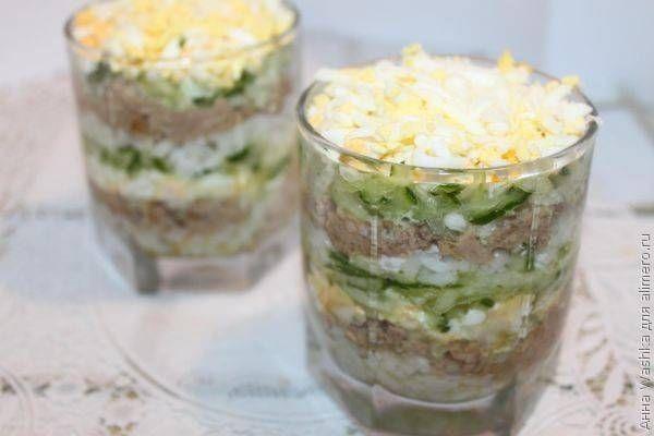 Салат из печени трески / Рецепты с фото