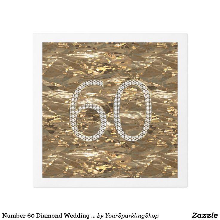 DiamondWedding Number 60 Diamond Wedding Anniversary Gold