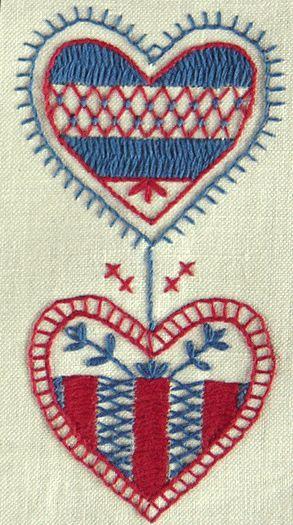 swedish folk art embroidery: hallandssöm