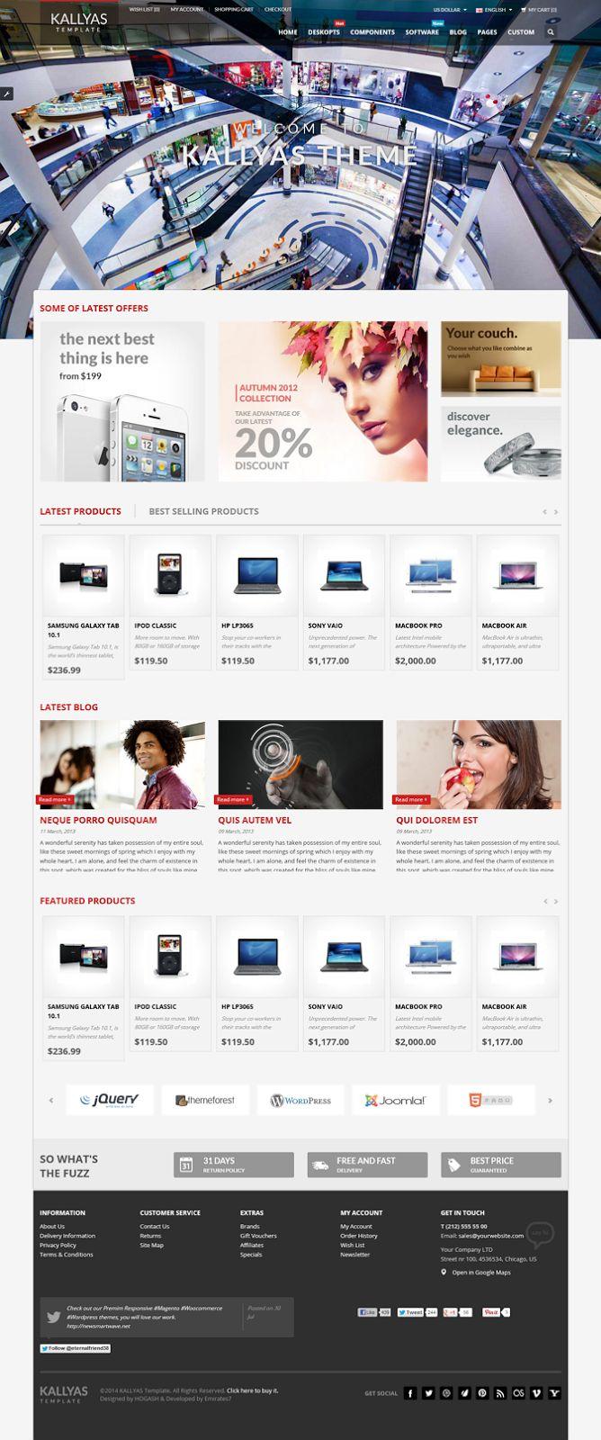 Kallyas is a premium responsive opencart theme with advanced admin module it s