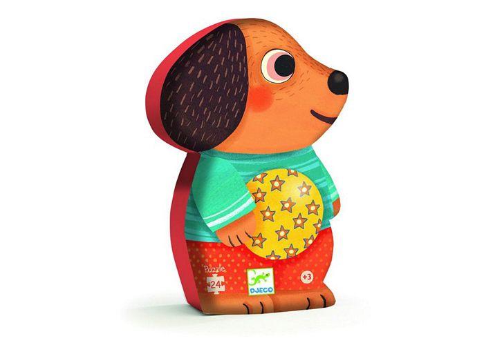 Djeco puslespil med hund - Tinga Tango Designbutik. Interiørbutik - Interior - Children - Børn - Toys - Legetøj - Brugskunst - Design - Kunst - Webshop - Billig fragt - spil - games - Djeco - Janod - Sebra - Esthex