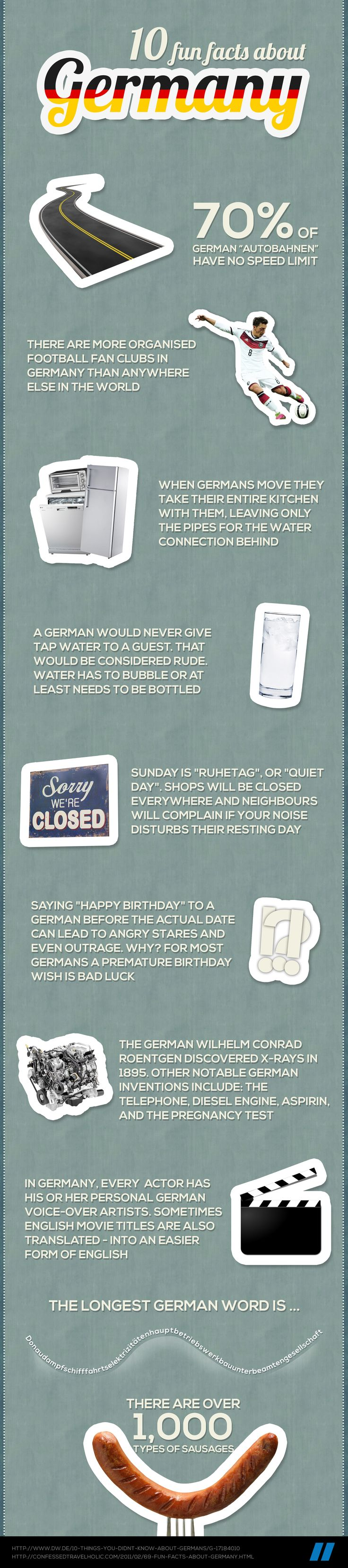 10 fun facts about Germany  #infographic #Germany #facts