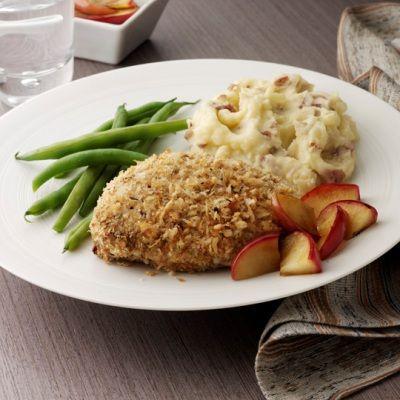 Panko Breaded Pork Chops with Honey Mustard Glaze -- a perfect dish ...