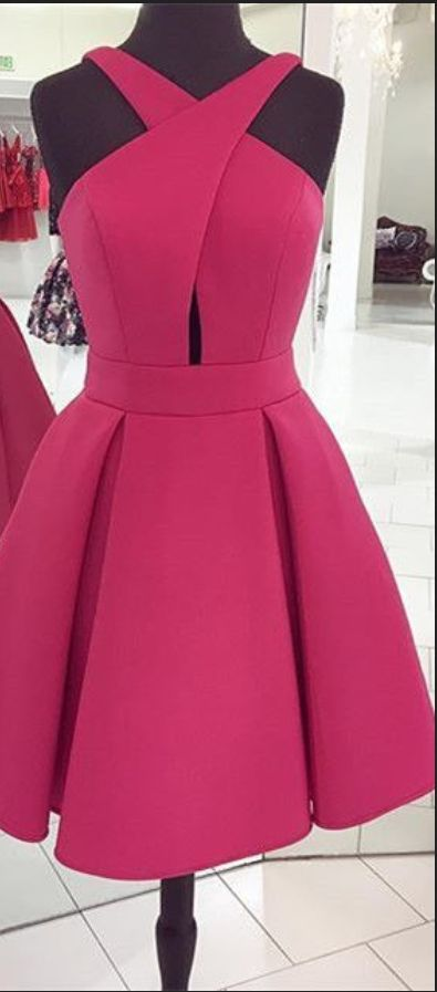 Short Rose Homecoming Dress Prom Dress, Short Prom