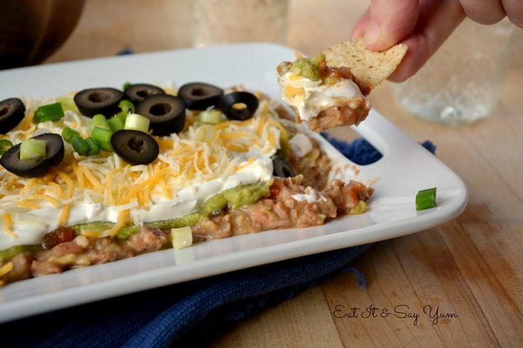 Layer Bean Dip   Cool Food Ideas   Pinterest