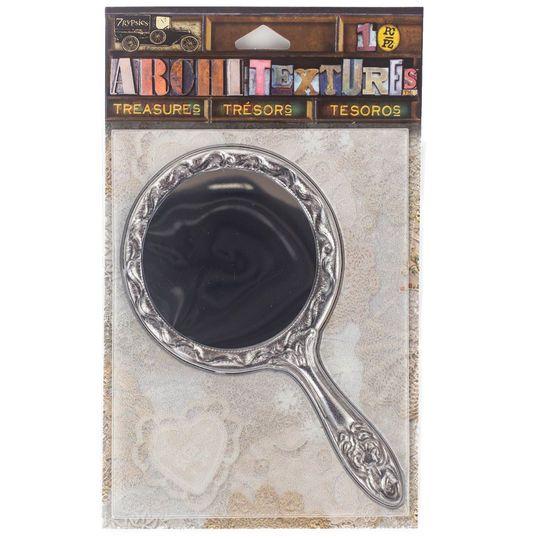 7Gypsies Architextures Treasures, Tarnished Silver Mirror