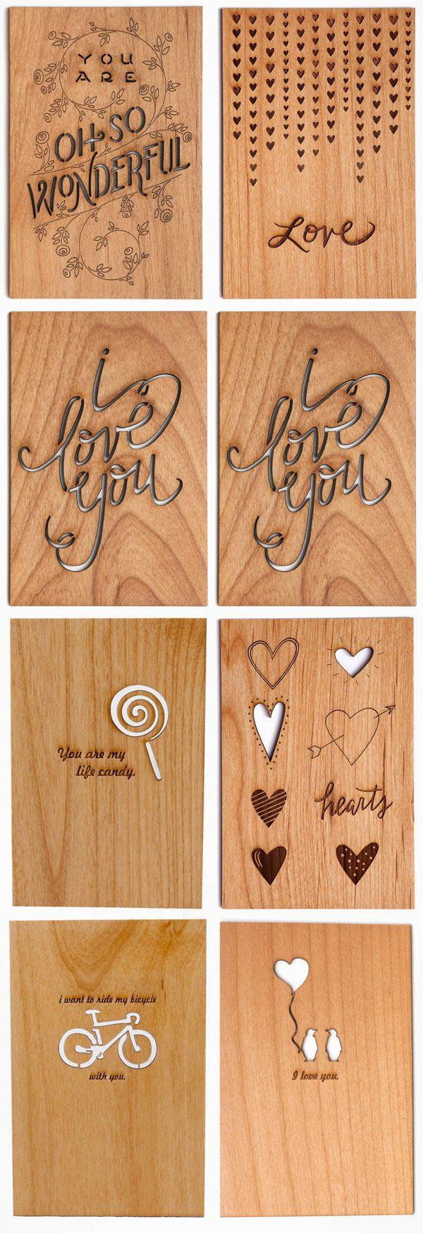 Valentine's day post card design