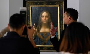 Leonardo da Vinci painting sells for record $400m at auction | Art and design | The Guardian