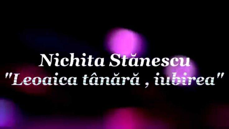Nichita Stanescu - Leoaica tanara , iubirea   Neomodernism