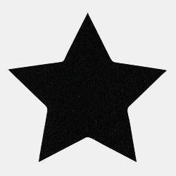 Symærke stjerne 140x140mm sort 1stk