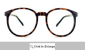 Valedictorian Big Round Clear Glasses - 387 Tortoise