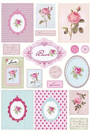 .Rose Tags Labels