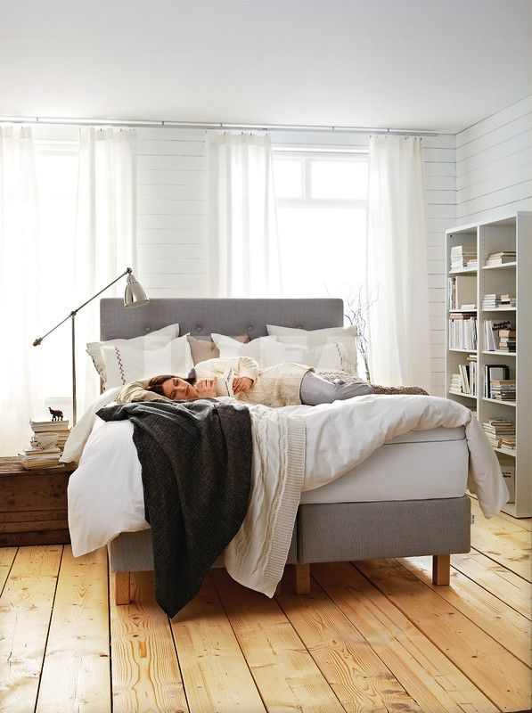 IKEA: Bekkestua headboard. It's grey and tufted, of course I want it!