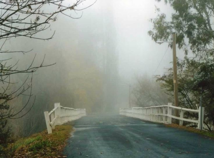 Old bridge in Tumut on a misty morning