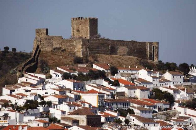 Mertola in the Alentejo, Portugal. Mertola's medieval castle overlooks the city. Photo by Stuart Forster.