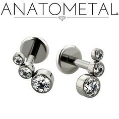- Flat Back Labrets - ANATOMETAL - Professional Grade Body Piercing Jewelry ~ Anatometal Flat Back Labrets can be made in Steel, Titanium, and 18K Gold.    Available in the traditional 3 piece design or as a fixed back 2 piece.
