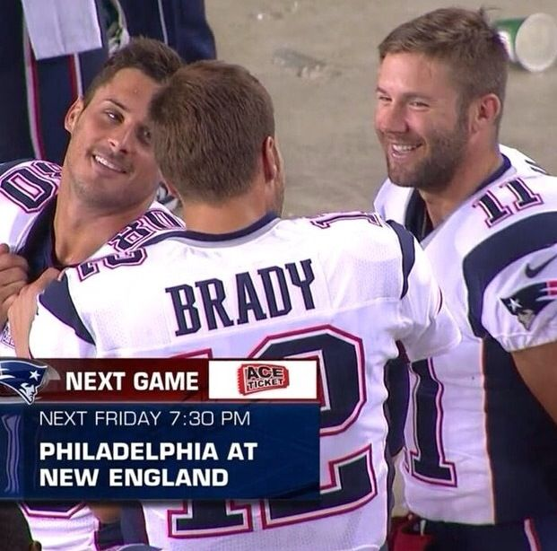 Great photo of Danny Amendola, Tom Brady & Julian Edelman #PatriotsNation   BEEN just a week or so and miss these guys!
