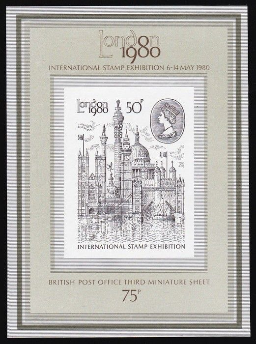 1980 London Exhibition 50p M/Sheet, error IMPERF. Superb fresh MUH. SG MS1119a cat £6800. Extremely rare as only 12 recorded.         (P) #Stamps #Errors #MADonC