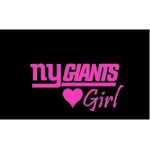 ny giants car decals | New York Giants Girl #2 Car Window Decal Sticker Raspberry